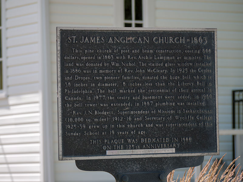 St. James Anglican Church 1863